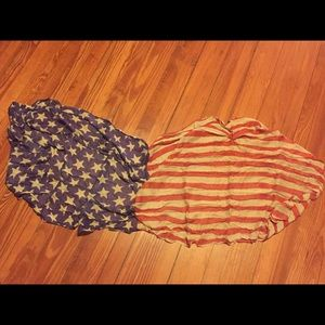 Super soft American flag scarf